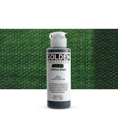 Golden Fluid Acrylics Jenkins Green
