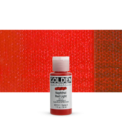 Golden Fluid Acrylics Napthol Red Light