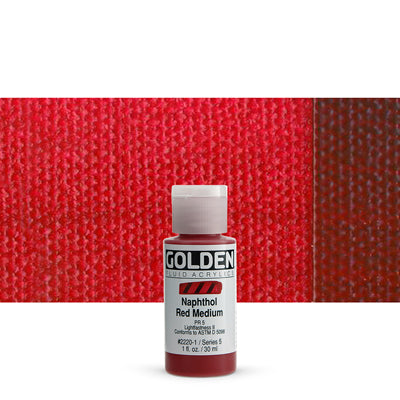 Golden Fluid Acrylics Napthol Red Medium