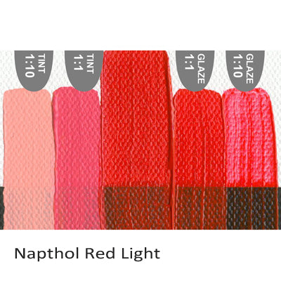 Golden Heavy Body Acrylic paint Napthol Red Light