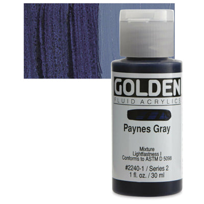 Golden Fluid Acrylics Paynes Grey