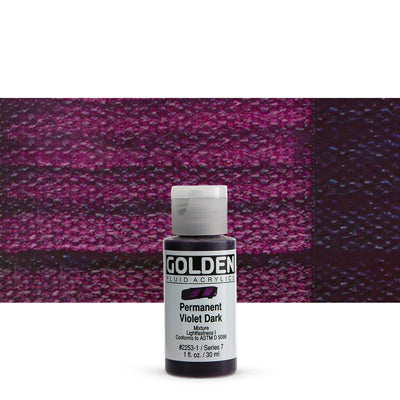 Golden Fluid Acrylics Permanent Violet Dark