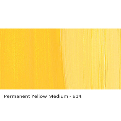 Lascaux Studio Acrylics Permanent Yellow Medium 914