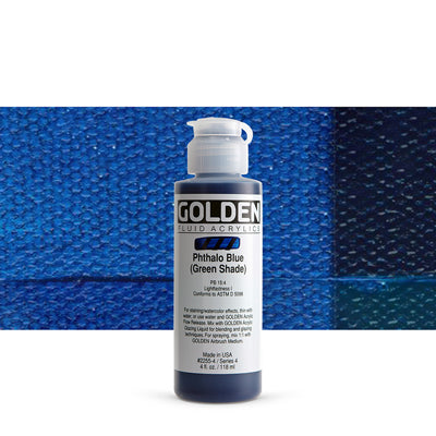 Golden Fluid Acrylics Phthalo Blue (GS)