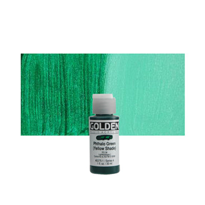 Golden Fluid Acrylics Phthalo Green (YS)