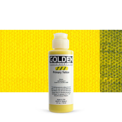Golden Fluid Acrylics Primary Yellow