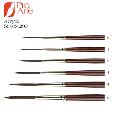 Designed for acrylic painters these brushes have tremendous 'spring' and great painting adaptability.
