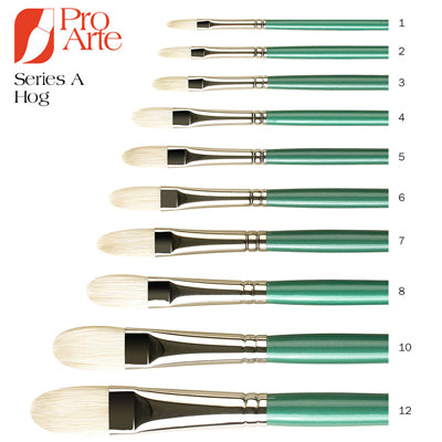 Pro Arte Series A Hog Brushes - Filbert