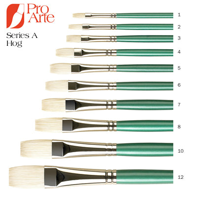 Series A Hog Brushes have been developed for professional use with Oil Colour and can also be used with alkyds and acrylic colours.