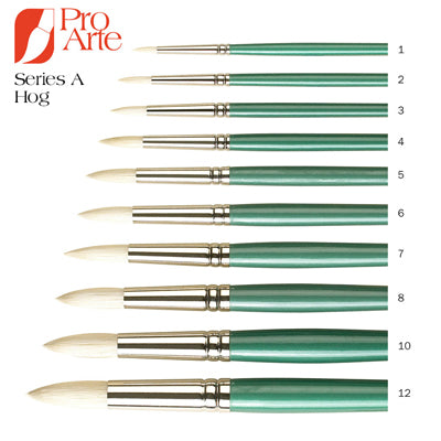 Pro Arte Series A Hog Brushes - Round