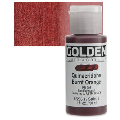 Golden Fluid Acrylics Quinacridone Burnt Orange