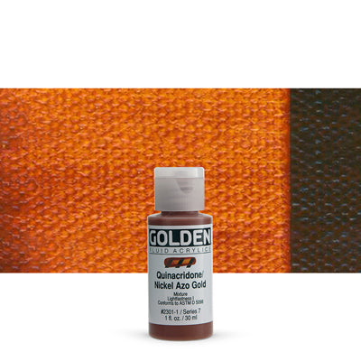 Golden Fluid Acrylics Quinacridone Nickel Azo Gold