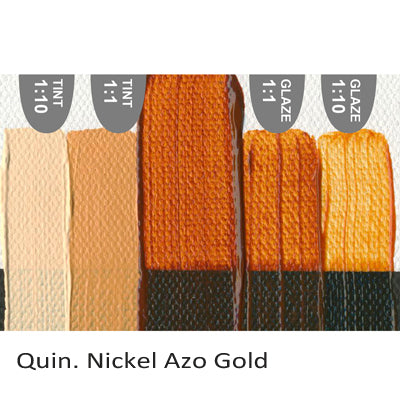 Golden Heavy Body Acrylic paint Quin. Nickel Azo Gold