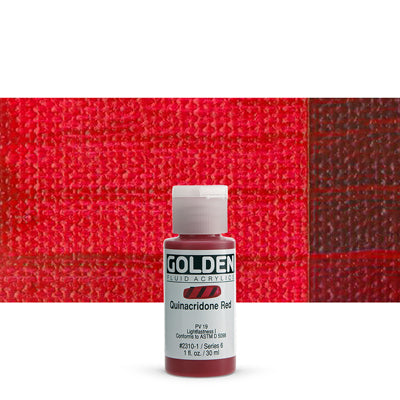 Golden Fluid Acrylics Quinacridone Red