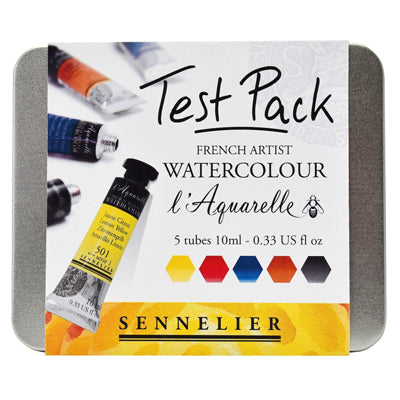 Sennelier Watercolour Test Pack - 10ml tubes
