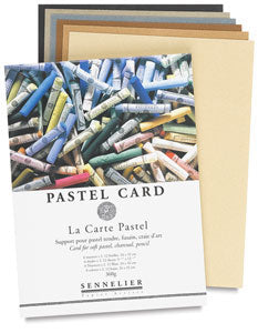 Professional quality pastel paper board which has a finely ground, sandpaper like surface providing a uniform, toothy surface that holds soft pastels