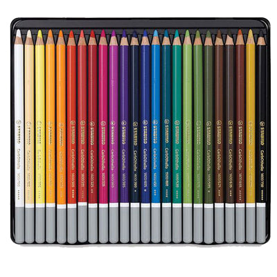 Chalk-pastel coloured pencils with high pigmentation for great luminosity and opacity. Colour-fast.