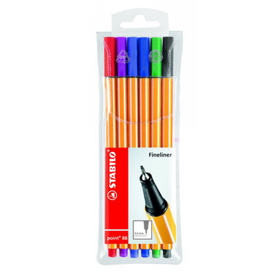 Water-soluble pens which, after wetting and allowing to dry, become permanent allowing for the layering of colour.
