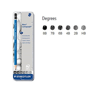 Staedtler Mars Lumograph Pencils - set of 6