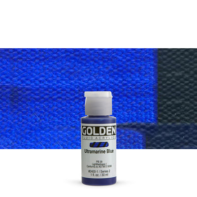 Golden Fluid Acrylics Ultramarine Blue
