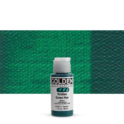 Golden Fluid Acrylics Viridian Green hue