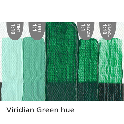 Golden Heavy Body Acrylic paint Viridian Green hue