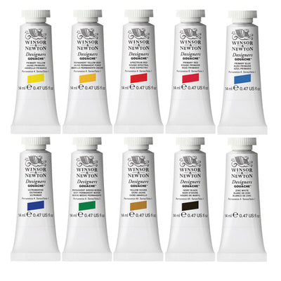 Winsor & Newton Designer Gouache - Introductory Set of 10 tubes