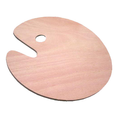 Traditional Wood Palette - Oval