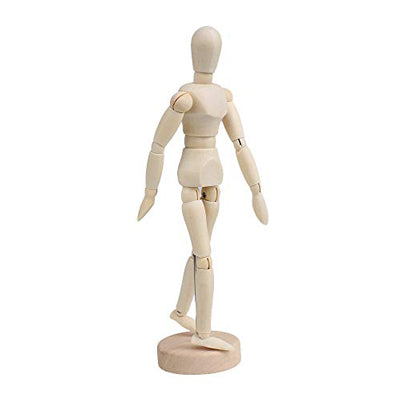 These wooden figure mannequins are articulated to allow for various poses.