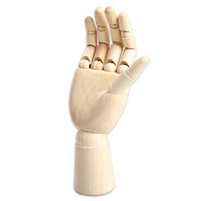Hand Mannequin has articulated fingers and wrist allowing for various poses.