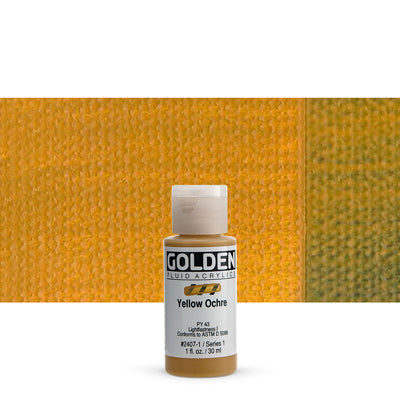 Golden Fluid Acrylics Yellow Ochre