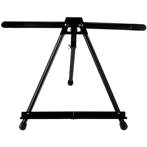 Lightweight, aluminium table easel with stabilising arms, can hold canvases up to 55cm. Foldable and comes with its own carry bag.
