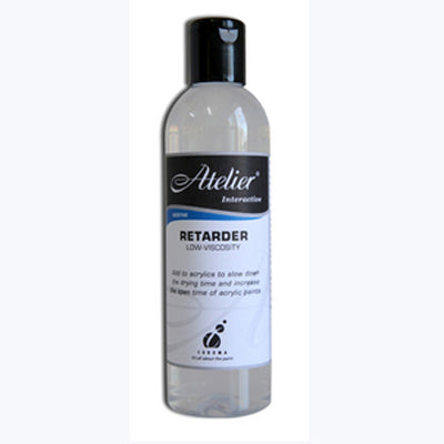 Retarder slows the drying time of acrylics