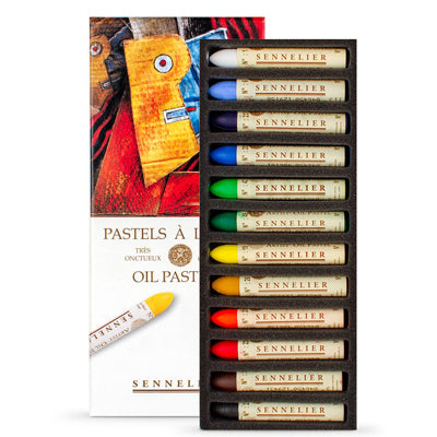 Sennelier Oil Pastels do not ever completely dry and remain heat sensitive because they are made using a unique blend of natural waxes.  Recommend that oil pastel work is sealed with oil pastel fixative.