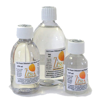 Zest-It Oil Paint Dilutant and Brush Cleaner is an alternative to turpentine and white spirit