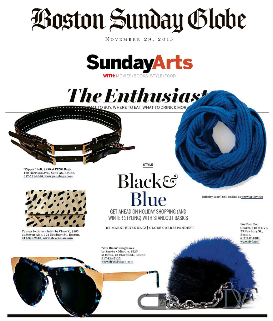 Boston Globe Feature - A Ruby Infinitely Scarf