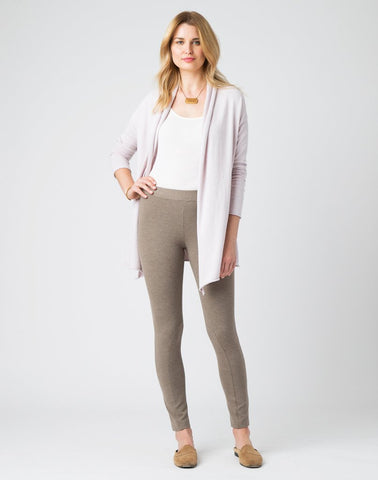 PULL-ON RIDING LEGGING PANT-TAUPE HEATHER