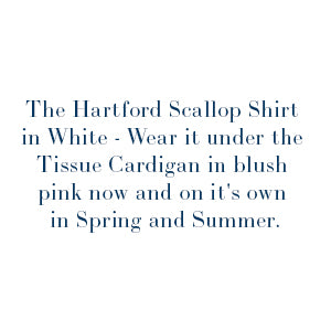 Hartford Scallop Shirt white