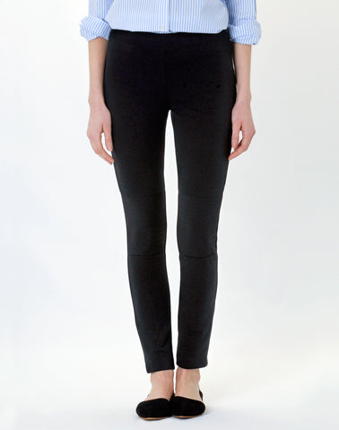 Pull-on Moto Legging Pant-charcoal