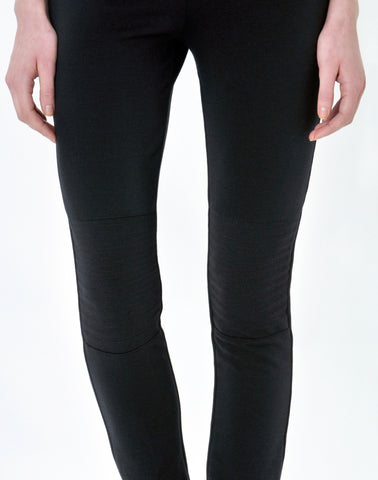 Pull-on Moto Legging Pant-charcoal heather