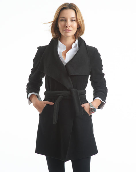 Polar Fleece Wrap Coat