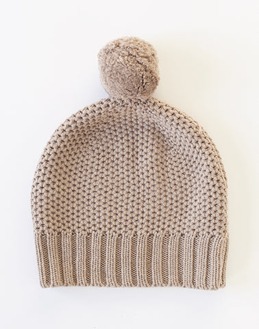Honeycomb Hat - earl grey