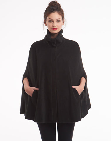 Polar Fleece Cape - black