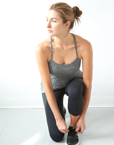 AV-RA Yoga Tank - heather grey