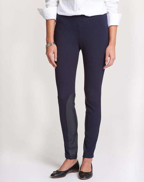 Pull-on Riding Legging Pant - navy