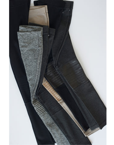 Moto Leather Legging-charcoal