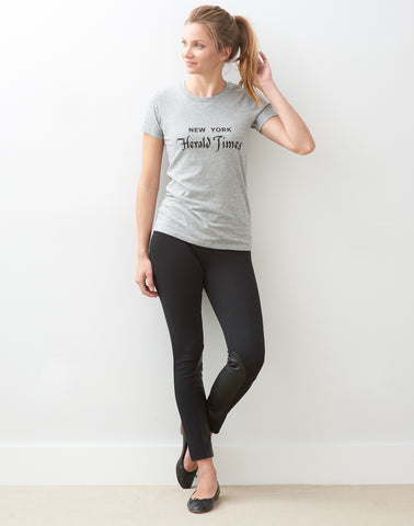New York Herald Tee - grey mix