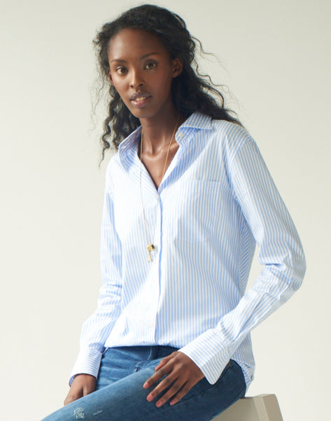 Stripe Shirt - blue/white