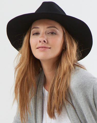 Glam Felt Hat - black