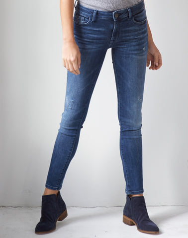 DL 1961 Distressed Skinny Jean - frostbite